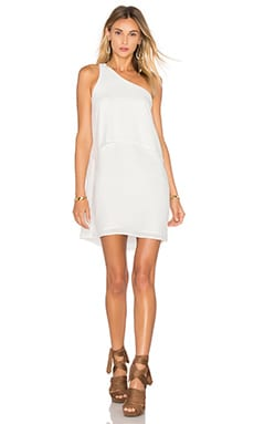 One Shoulder Mini Dress in White