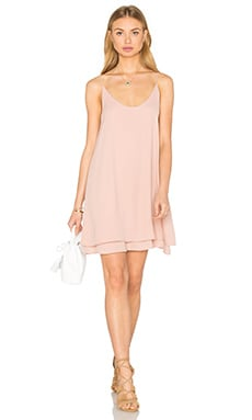 krisa Doubler Layer Cami Mini Dress in Cosmetic