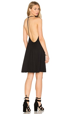 krisa Open Back Cami Dress in Black