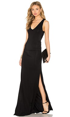 Cutout Back Maxi Dress en Noir
