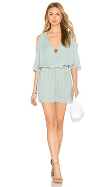 krisa Open Shoulder 3/4 Sleeve Dress in Seaglass