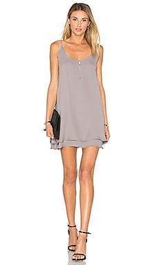 Double Layer Cami Mini Dress in Haze
