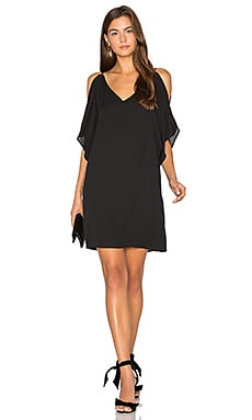 Split Sleeve Slip Dress in Schwarz