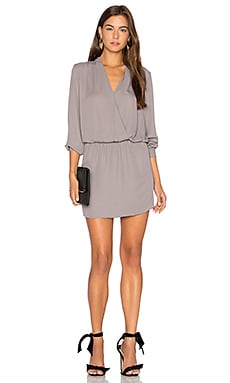 Surplice Mini Dress en Haze