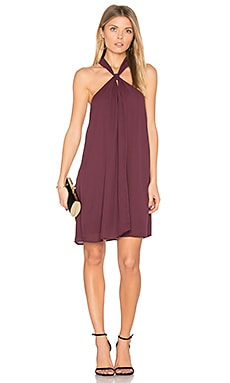Loop Front Mini Dress in Winterberry