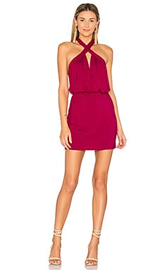 Cross Front Mini Dress in Cosmopolitan