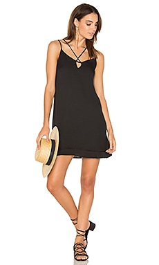 Cross Strap Dress in Schwarz