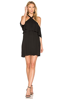 Off Shoulder Halter Dress in Black