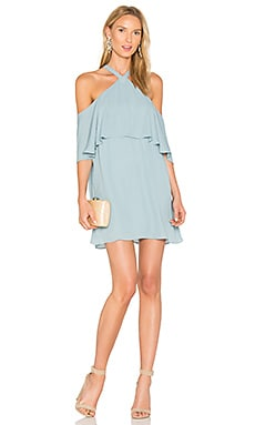 Off Shoulder Halter Dress in Brook