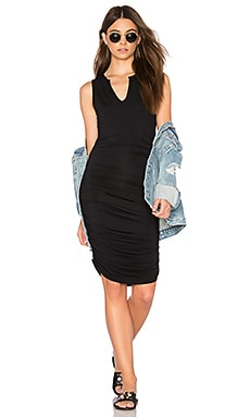 Split V Dress in Black