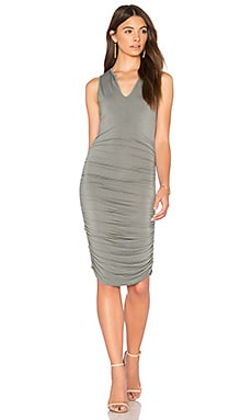 Split V Dress in Spruce