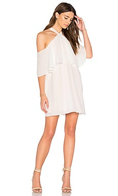 Off Shoulder Halter Dress en Blanc