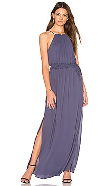 Drawstring Halter Maxi en Blueberry