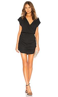 Купить Мини платье drape skirt surplice - krisa, Черный, США