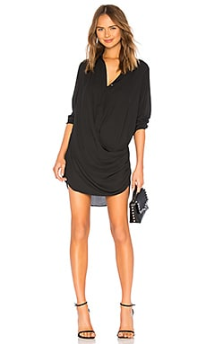 ROBE COURTE DRAPE BUTTON FRONT krisa $216 BEST SELLER