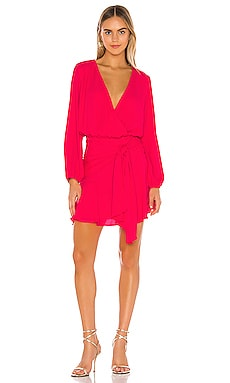 Tie Waist Surplice Mini Dress krisa $159