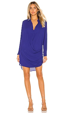Drape Button Front Mini Dress krisa $216 NEW ARRIVAL