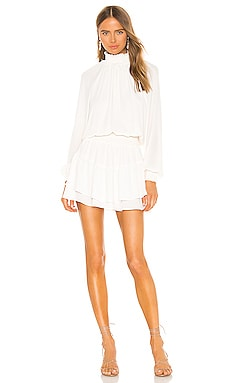 ROBE COURTE SMOCKED krisa $194 BEST SELLER