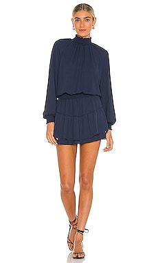 x REVOLVE Smocked Turtleneck Dress krisa $194 NEW