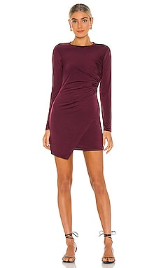 Wrap Long Sleeve Mini Dress krisa $198 NEW