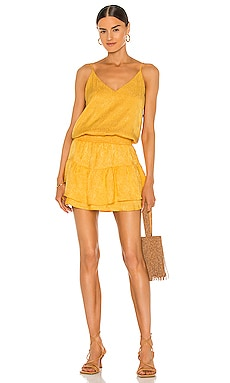 Smocked Waist Cami Mini Dress krisa $257 BEST SELLER
