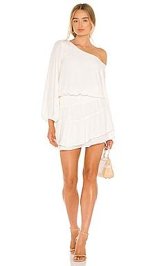 One Shoulder Ruffle Skirt Dress krisa $216