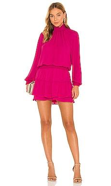 Turtleneck Ruffle Skirt Dress krisa $198
