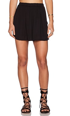 krisa Cross Over Shorts in Black
