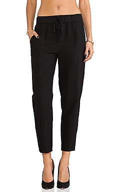 krisa Boyfriend Pant in Black
