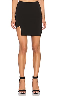 krisa Asymmetrical Skirt in Black