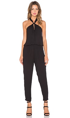 krisa Halter Jumpsuit in Black