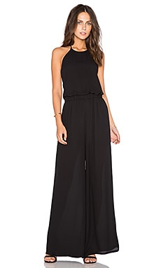 krisa Tie Back Halter Jumpsuit in Black