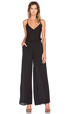 krisa Crossback Jumpsuit in Black