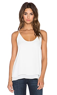 krisa Double Layer Cami in White