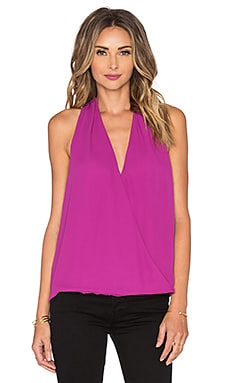 krisa Surplice Tank in Huckleberry