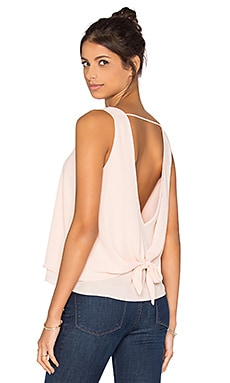 Double Layer Tie Back Tank in Ballet