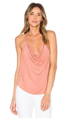 Open Back Drape Halter Top in Ocher