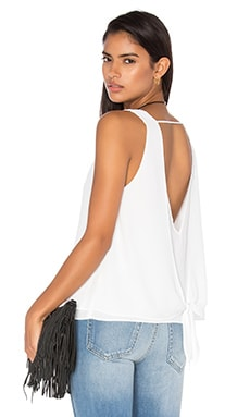 Double Layer Tie Back Tank in White
