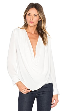 Draped Surplice Blouse