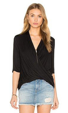 Surplice Half Sleeve Top