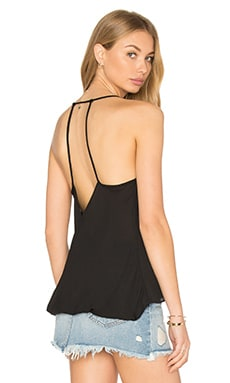 krisa Crossed Back Cami in Black
