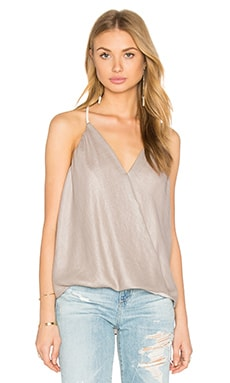 krisa Surplice Tank in Wicker