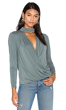 Surplice Turtleneck Top