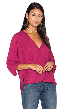 Oversized Surplice Top in Ruby