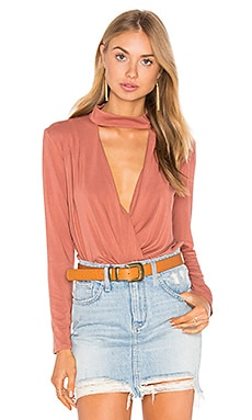 Surplice Turtleneck Top in Bronze