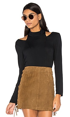 Cutout Turtleneck Top