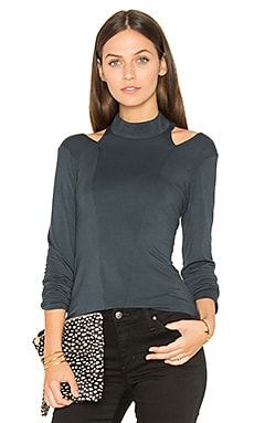 Cutout Turtleneck Top in Newport