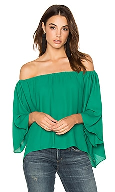 Off Shoulder Drape Top in Lush