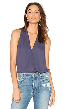 Surplice Tank in Blueberry