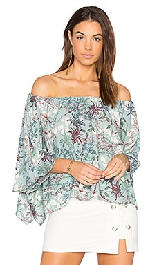 Off Shoulder Drape Top en Floret